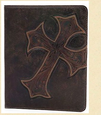 Nocona Distressed Chocolate Tooled Ipad Case - Kerlin's Western and Work Wear