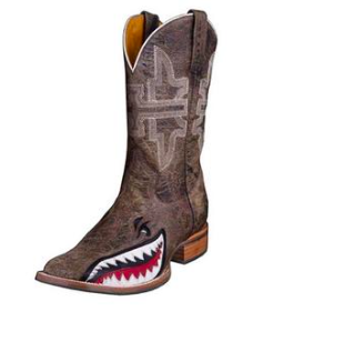 Tin Haul Western Boots Mens Gnarly Shark Brown - Kerlin's Western and Work Wear