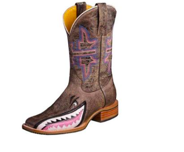 Tin Haul Western Boots Womens Maneater Sole Brown - Kerlin's Western and Work Wear