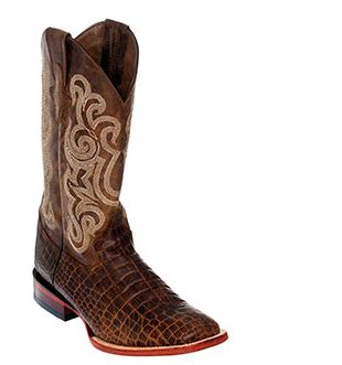 Ferrini Men's Caiman Belly Print S Toe Boots - Brown - Kerlin's Western and Work Wear