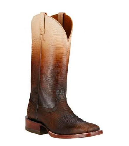 Ariat Ombré Lizard Print Women's Square Toe Western Boot