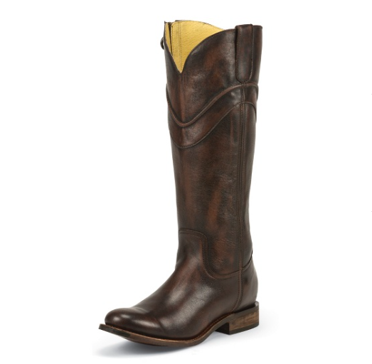 Justin Women's Chocolate Barocco Boot - Kerlin's Western and Work Wear