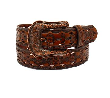 Ariat Women's Western Laser Cut Leather Belt