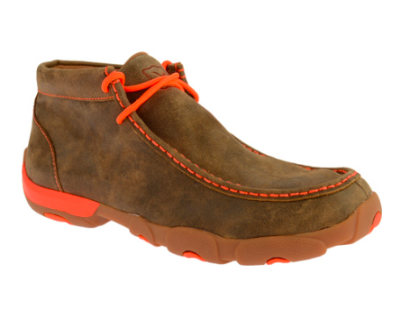 Twisted X Men's Driving Moc with Orange Accents