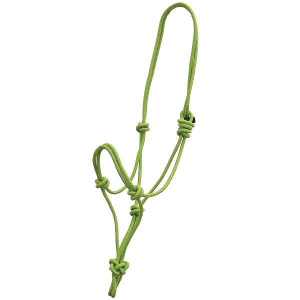 Lime Gold Glitter Rope Halter