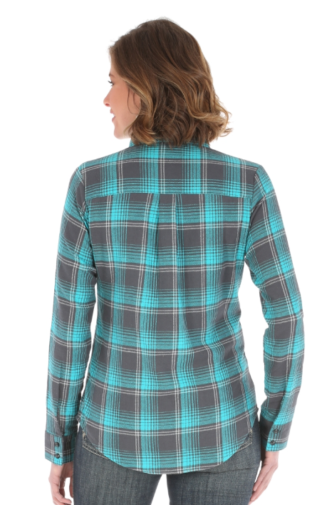 As Real As Wrangler® Top Dark Grey and Turquoise
