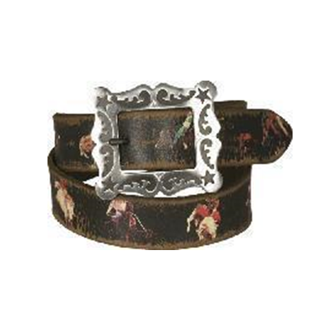 3D Vintage Rodeo Belt with Star Flilgree Buckle