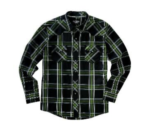 Garth Brooks Sevens by Cinch Black and Lime Snap Shirt