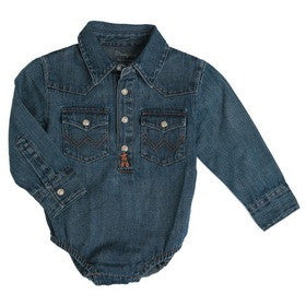 Wrangler All Around Baby Denim Long Sleeved Onesy - Kerlin's Western and Work Wear