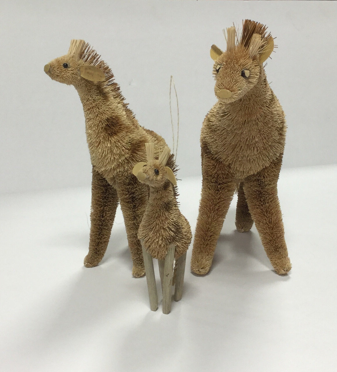 Brush Giraffe Figures Set of Three - Kerlin's Western and Work Wear  - 1