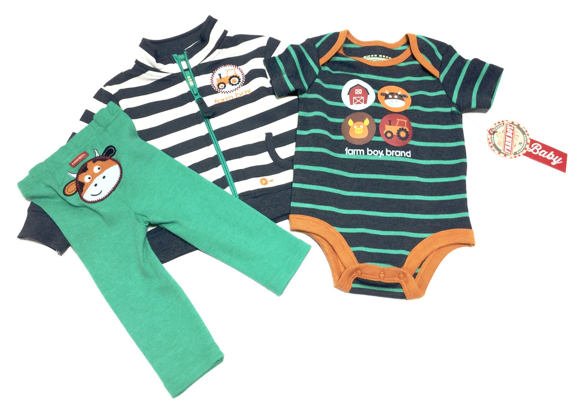 Farm Baby Three-Piece Infant Set - Kerlin's Western and Work Wear  - 1