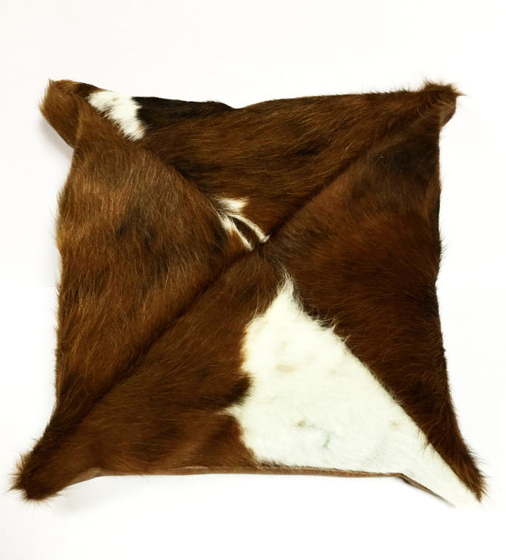 Hand Crafted Leather Pillow with Fringe