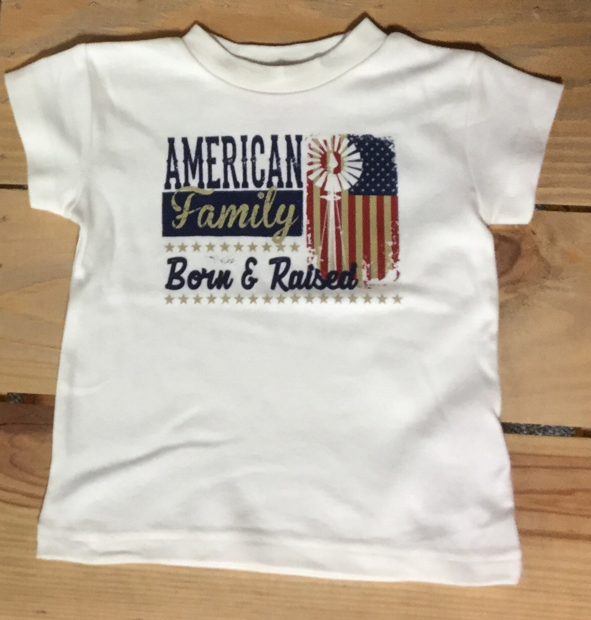 Farm Boy Born & Raised Ivory Infant/Toddler Tee