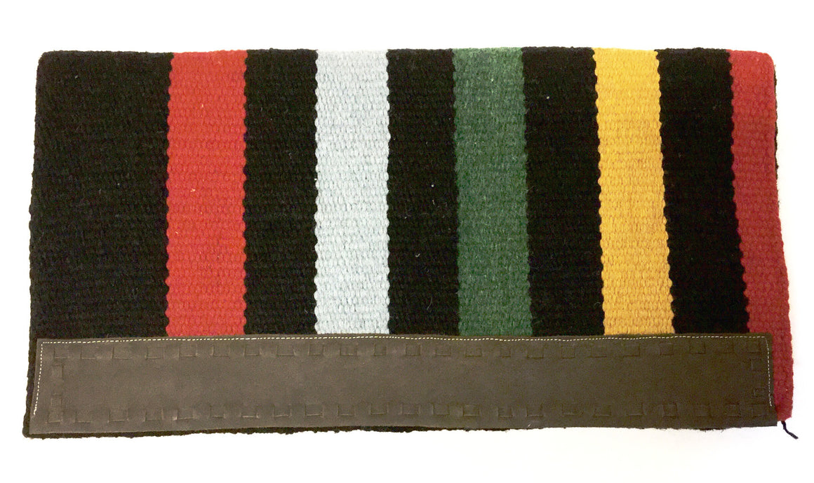 "Black Striped Saddle Blanket 32"" x 32"" - Kerlin's Western and Work Wear"