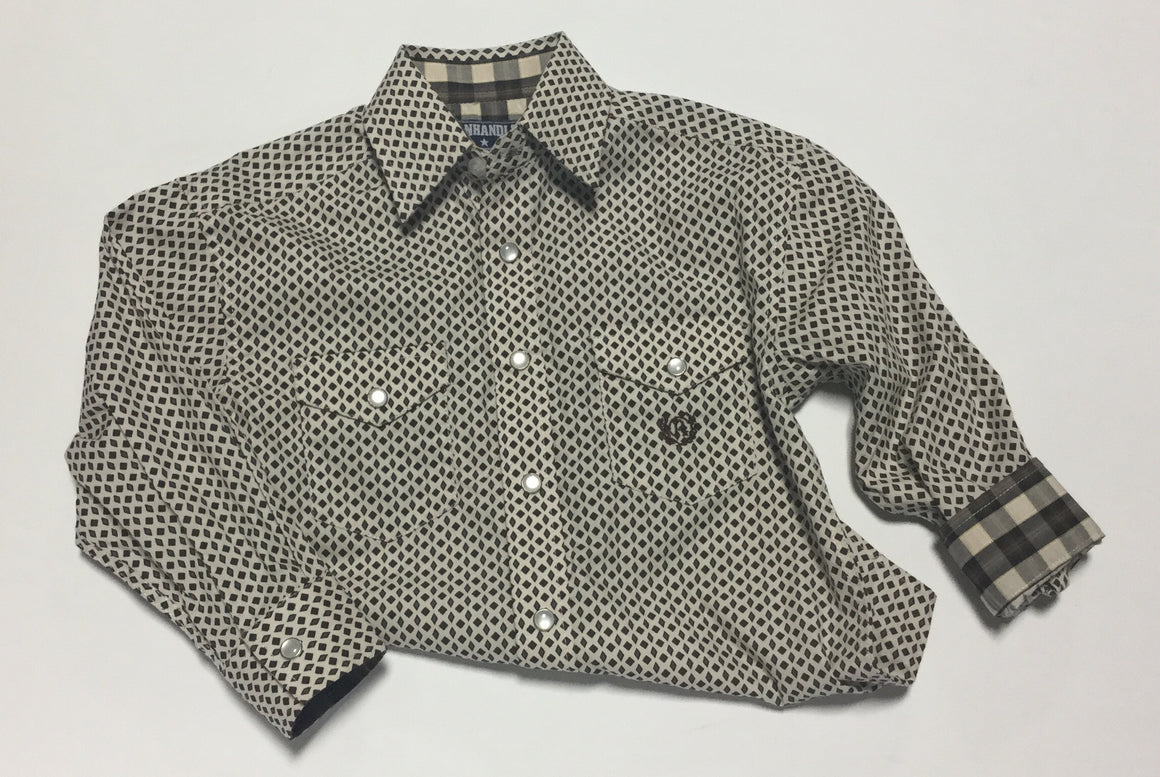 Panhandle Slim Boys Long Sleeve Button Down Shirt with Patch Pocket - Kerlin's Western and Work Wear