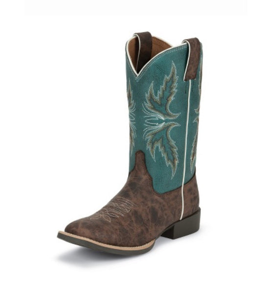 Justin Bent Rail Kid's Caney Boot
