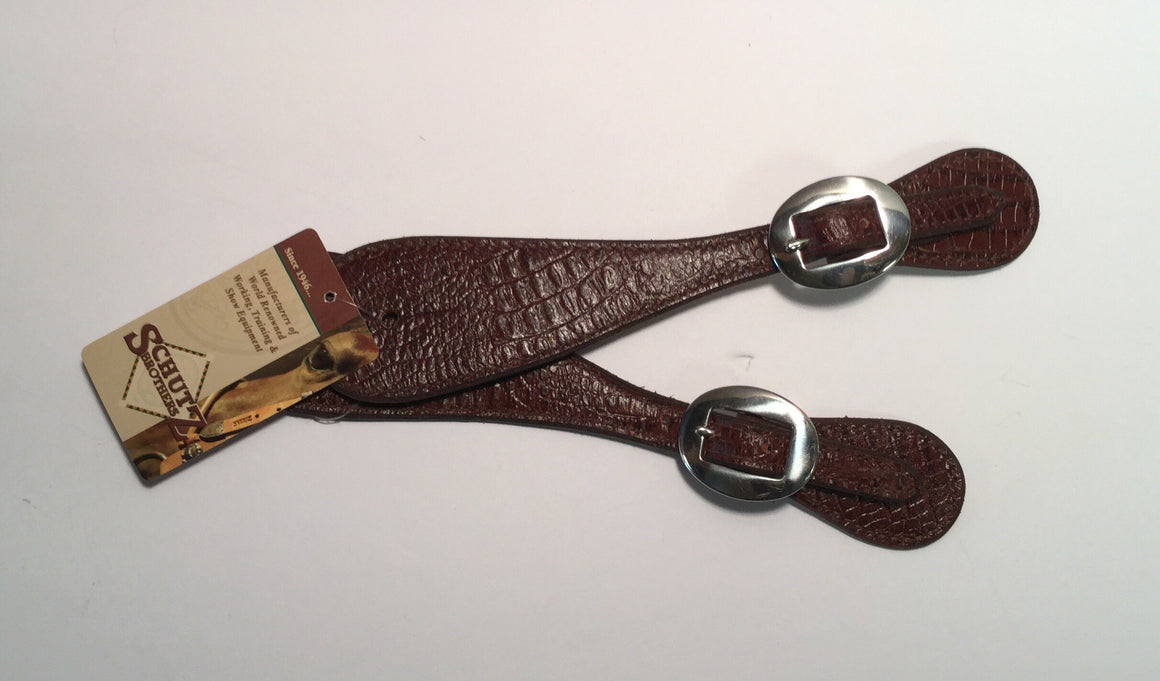 Brown Gator Print Spur Straps - Kerlin's Western and Work Wear