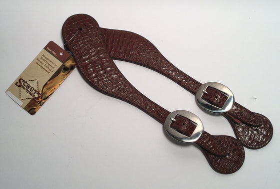 Mens Brown Gator Spur Straps - Kerlin's Western and Work Wear