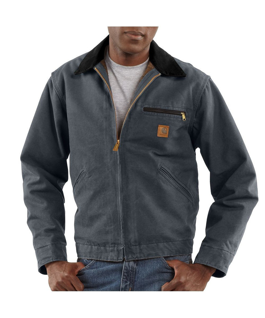Carhartt Sandstone Detroit Jacket (model J97) – Gravel - Kerlin's Western and Work Wear