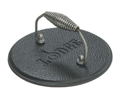Lodge 7.5-in Round Cast Iron Grill Press w/ Cool Grip Spiral Handle & Hammered Finish - Kerlin's Western and Work Wear