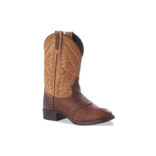 Old West Brown Round Toe - Youth - Kerlin's Western and Work Wear