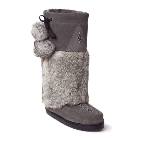 Manitobah Snowy Owl Mukluk - Charcoal - Kerlin's Western and Work Wear  - 1