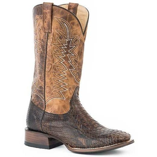 Stetson Handcrafted Peace Maker Python Square Toe Boot