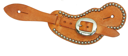 Spotted Men's Harness Leather Buckaroo Spur Straps - Kerlin's Western and Work Wear