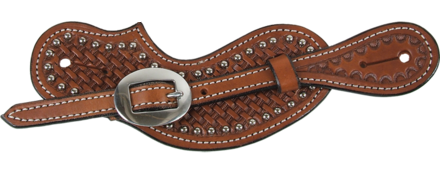 Spotted Men's Chestnut Cowboy Cut Spur Straps - Kerlin's Western and Work Wear