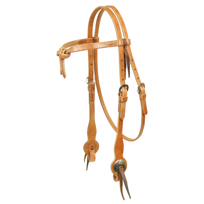 Double Stitched Futurity Knot Headstall - Kerlin's Western and Work Wear