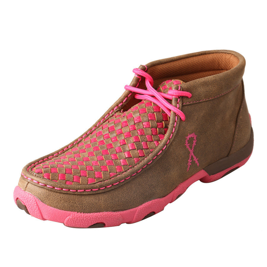 Twisted X Casual Driving Moc Pink