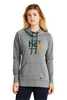 New Ladies Tri-Blend Fleece Pullover Hoodie