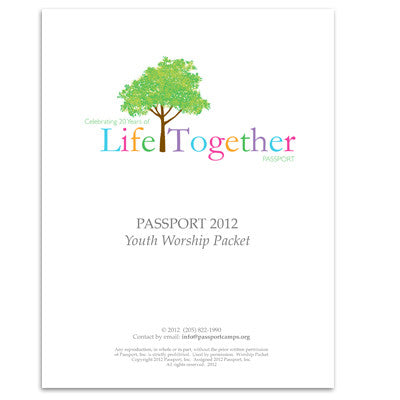 Youth Worship Packet 2012