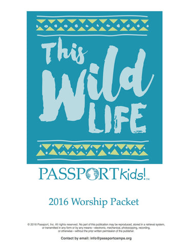 2016 PASSPORTkids! Worship Packet