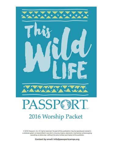 2016 Youth Worship Packet