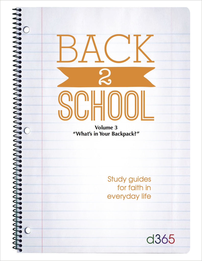 Back2School Small Group Study Guide, Volume 3 (2014)