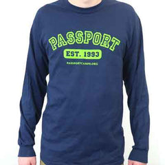 PASSPORT Long-Sleeved Navy Shirt