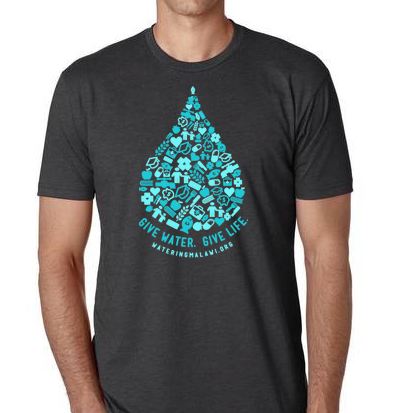 Give Water T-Shirt - Charcoal