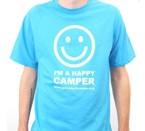 Happy Camper T-Shirt - Blue Comfort Color