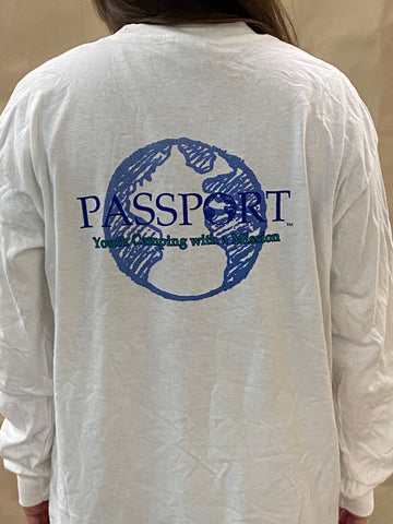 PASSPORT Long-Sleeved Globe Shirt - White