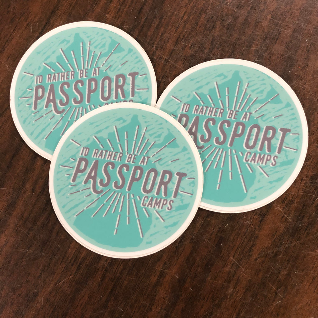 Sticker: I'd Rather Be at Passport