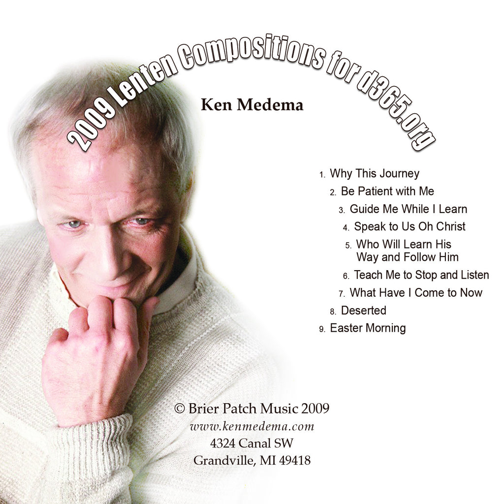 "Ken Medema ""2009 Lenten Compositions"" CD"