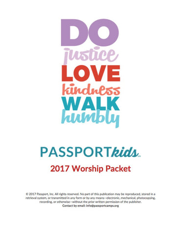 2017 PASSPORTkids Worship Packet