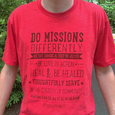 """Do Missions"" Heathered Tee"