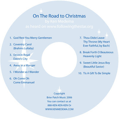 "Ken Medema ""On the Road to Christmas"" CD"