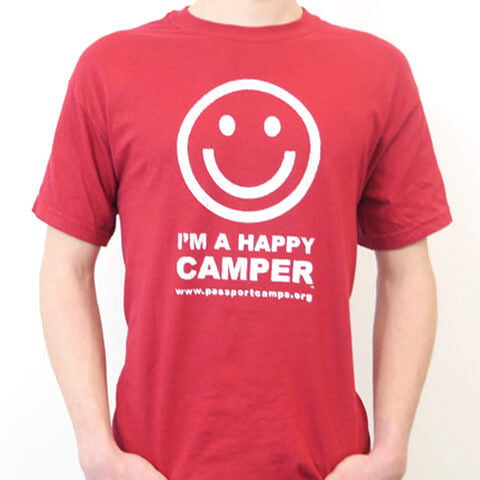 Happy Camper T-Shirt - Red