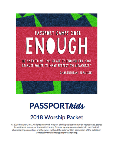2018 PASSPORTkids Worship Packet