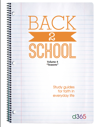 Back2School Small Group Study Guide, Volume 4 (2015)