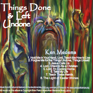 "Ken Medema ""Things Done & Left Undone"" CD"