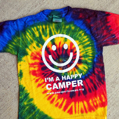 Happy Camper T-Shirt - Tie-Dye